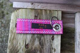 Schlüsselanhänger, schwarz/pink, lila, LF