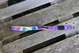 Schlüsselband, gelb, lila, weiß, blau, North Sails