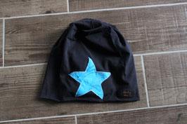 Mütze, navy blau/hellblau, blau, Stern