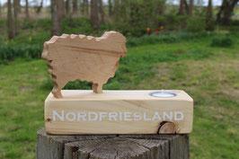 """Teelichthalter Emil & Gustav, mit dem Schriftzug """"Nordfriesland"""", Nr. 2"""