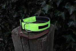 Hundehalsband schwarz/neongelb