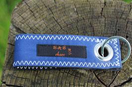 Schlüsselanhänger, schwarz/blau, orange, Jugendfeuerwehr, Nr. 9