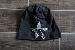 Mütze, anthrazit/weiß, schwarz, Stern