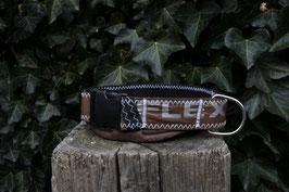 Hundehalsband schwarz/braun, silber, Slingshot Kiteboarding
