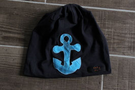 Mütze, navy blau/hellblau, blau, Anker