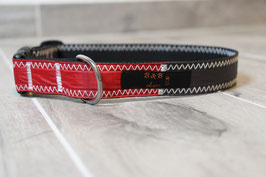 Hundehalsband, schwarz/rot, grau, blau, HQ