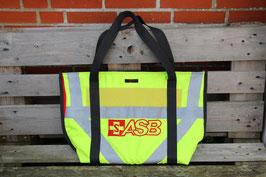 Beach Bag/ Shopping Bag, schwarz/neongelb, rot, Reflektionsstreifen, ASB, Unikatnr. 710