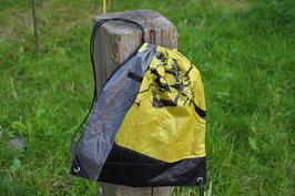 Turnbüdel aus Kite, schwarz, gelb, grau, weiß, Kordel: anthrazit, Naish