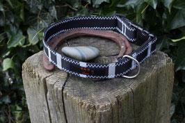 Hundehalsband, schwarz/schwarz, silber, Slingshot