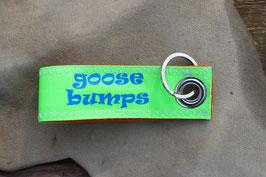 Schlüsselanhänger, orange/neongrün, blau, GOOSE BUMPS