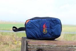 Kulturtasche II, schwarz/orange, blau, Jugendfeuerwehr, Unikat-Nr. 682