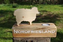 """Teelichthalter Emil & Gustav, mit dem Schriftzug """"Nordfriesland"""", Nr. 6"""