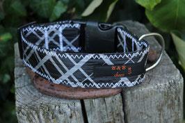 Hundehalsband, schwarz/grau, schwarz, rot, BEST Kiteboarding