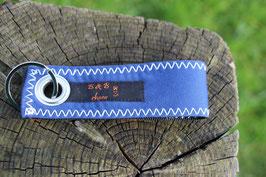Schlüsselanhänger, schwarz/blau, orange, Jugendfeuerwehr, Nr. 8