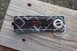 Schlüsselanhänger, türkis/schwarz, grau, Best Kiteboarding