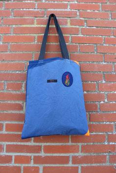 Einkaufstasche 2.0, dunkelblau, gelb,neonorange, Refektorstreifen, Jugendfeuerwehr