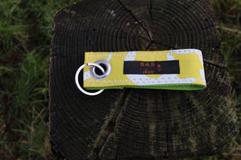 Schlüsselanhänger, lemon/gelb, weiß