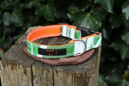 Hundehalsband orange/grün, weiß, HQ Kites