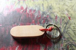 Schlüsselanhänger, rot, grün, holzfarbend, Nr. 1