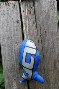 Zierfisch, klein, blau, silber, BEST Kiteboarding
