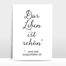 """A3 Artprint """"Das Leben ist schön"""""""