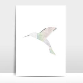 "A3 Artprint ""Origami Kolibri"""