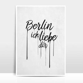 """A4 Artprint """"Berlin ick liebe dir"""""""