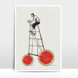 """A3 Artprint """"Melonenradler"""""""