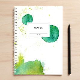 "A5 Notizbuch ""Notes03 Kleckse"""