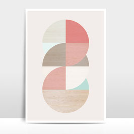 "A3 Artprint ""Wooden Circles"""