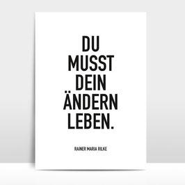 """A4 Artprint """"Ändern leben"""""""