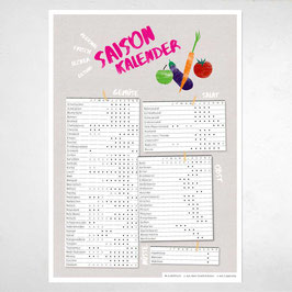 """A2 Poster """"Saisonkalender Obst & Gemüse"""""""