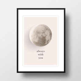 "A4 Artprint ""Mond - always with you"""