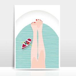 """A3 Artprint """"Badewanne"""""""