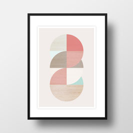 "A4 Artprint ""Wooden circles"""