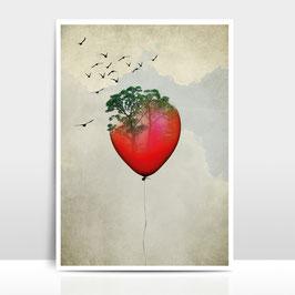 """A3 Artprint """"Red Balloon"""""""