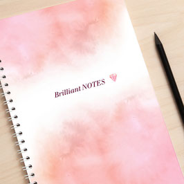 "A5 Notizbuch ""Brilliant Notes"" rosa"