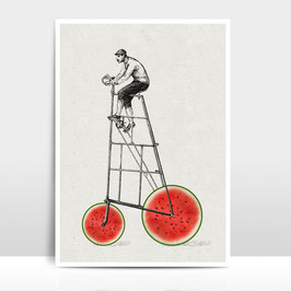 """A4 Artprint """"Melonenradler"""""""