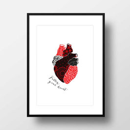 "A4 Artprint ""Follow your heart"""