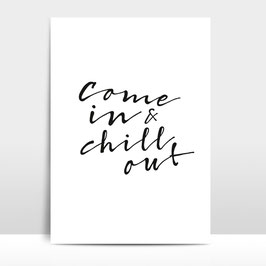 "A3 Artprint ""Chill out"""