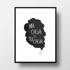 """A4 Artprint """"Mi casa"""""""