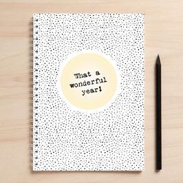 """A5 Kalender / Tagebuch """"Wonderful year"""""""