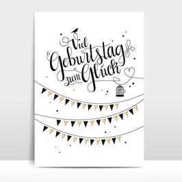 """A3 Artprint """"Viel Geburtstag zum Glück"""""""