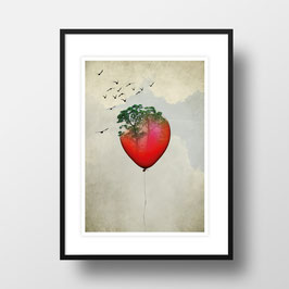 "A4 Artprint ""Red Balloon"""