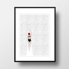 """A4 Artprint """"Punktschwimmer"""""""