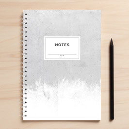 "A5 Notizbuch ""Notes01 Beton"""