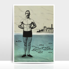 "A4 Artprint ""Beachboy"""