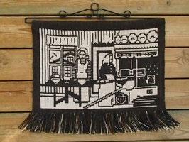 """Finnväv """"Bagarstugan"""" / 絵織物 パン焼き"""