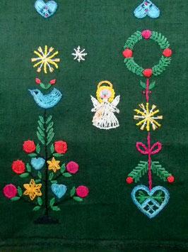 Julduk broderad julmotiv / クリスマスモチーフの刺繍布