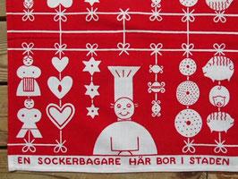 "Julduk ""En socker bagare"" / クリスマスの布「砂糖菓子職人」"